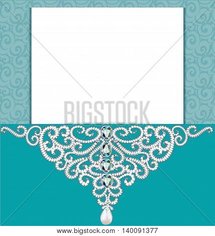 illustration Vintage background with a pattern of precious stones.