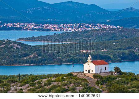 Island of Murter archipelago view Dalmatia Croatia