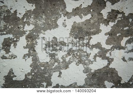 Vintage texture grunge peeling old cement wall background