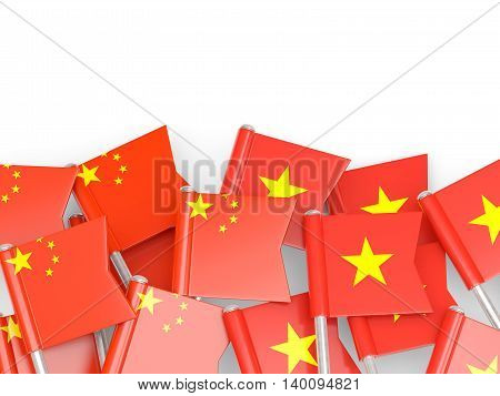 Flags Of China And Vietnam Isolated On White