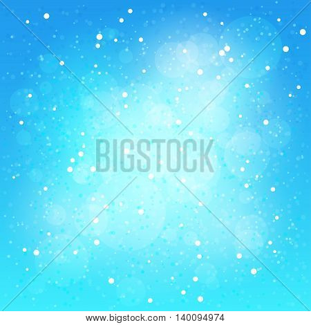 Snowfall ,Falling snow on blue background, abstract winter background