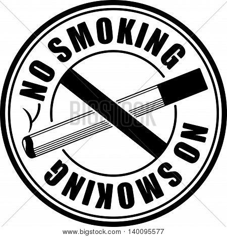 No smoking black round sign with crossed cigarette
