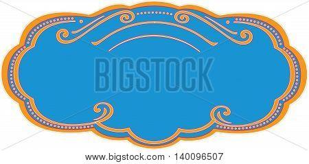Vector decorative frame for packaging design, label etc.