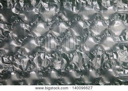 full frame of the bubble wrap texture