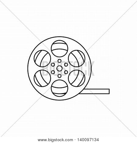 Film reel icon in outline style on a white background