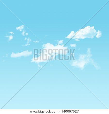 The Blue sky and white cloudy background