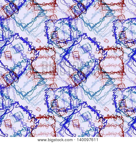 Seamless pattern - scribble multi-colored ink. Hand-drawn illustration. Vector.