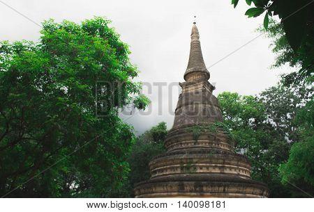 Old Pagoda at Wat Umong Thailand Chiangmai