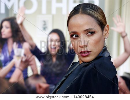 Dania Ramirez at the Los Angeles premiere of 'Bad Moms' held at the Mann Village Theater in Westwood, USA on July 26, 2016.