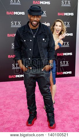Allison Holker and Stephen Boss at the Los Angeles premiere of 'Bad Moms' held at the Mann Village Theater in Westwood, USA on July 26, 2016.