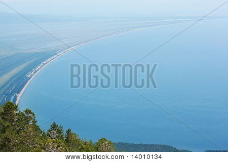 Coastline of the lake Baikal