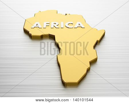 3D Rendering Of The Concept Of World Continent