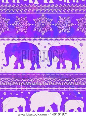 Card with Elephant. Frame of animal made in vector. Pattern Illustration for design, pattern, textiles. Hand drawn map with Elephant. Use for children s clothes, pajamas