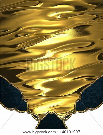 Abstract Yellow Background With Blue Decorations. Template For Design. Copy Space For Ad Brochure Or