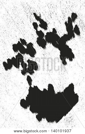 Distressed overlay texture of natural fur grunge vector background. abstract halftone vector illustration