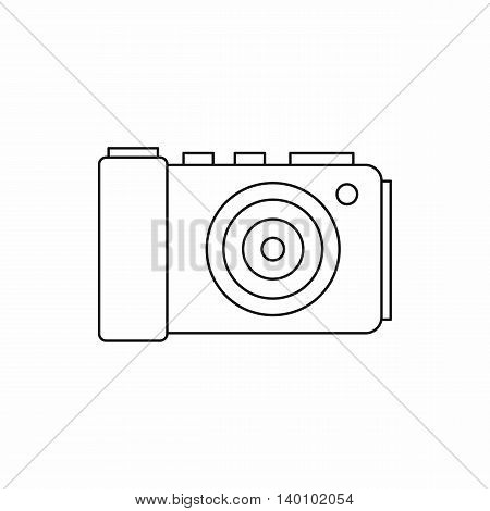 Camera icon in outline style on a white background