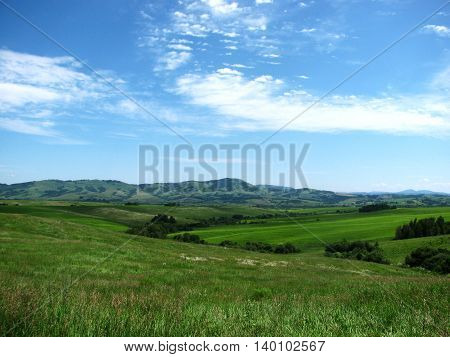 Summer beautiful landscape on a mountain surface of the nature