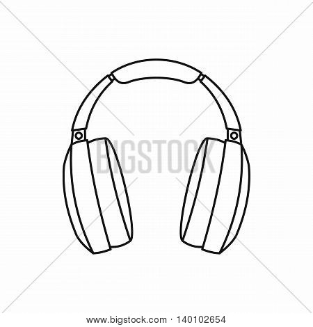 Headphones icon in outline style on a white background