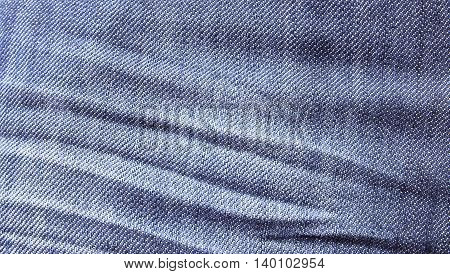 Close up blue jeans texture and blue jeans background for any design