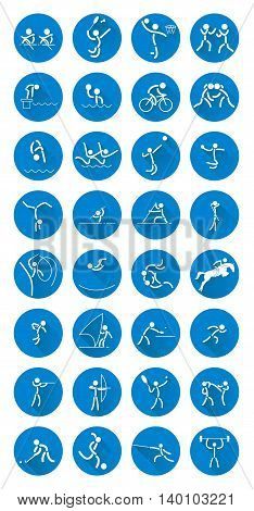 Summer Olympic Games . Icons vector. Eps 10.