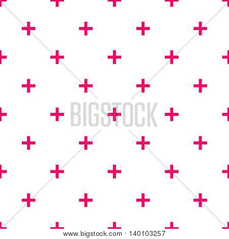 Tile cross plus pastel pink and white pattern