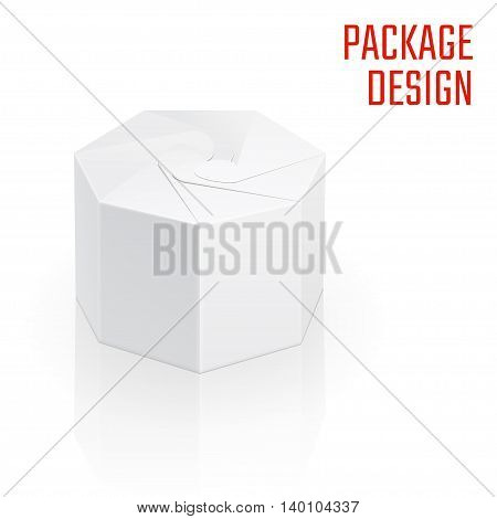 Vector Illustration of Clear Craft Box for Design