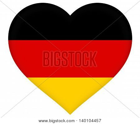 Heart shaped illustration of the Flag of Germany