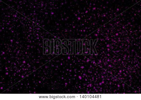 Colourful Abstract Powder Explosion On A Black Background