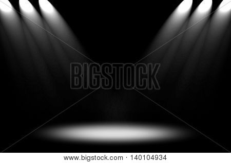 dark interior with spotlight background