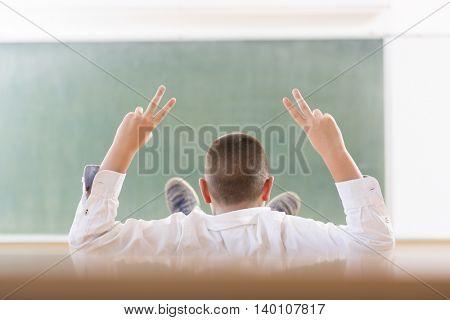 Adolescent in classroom