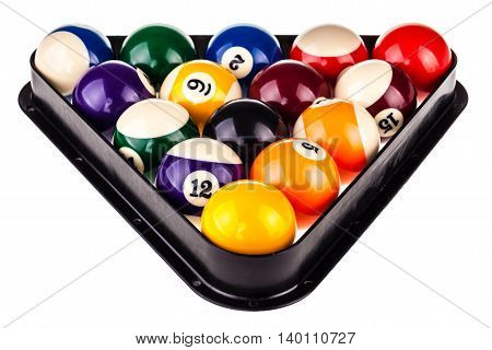 Pool Triangle And Balls