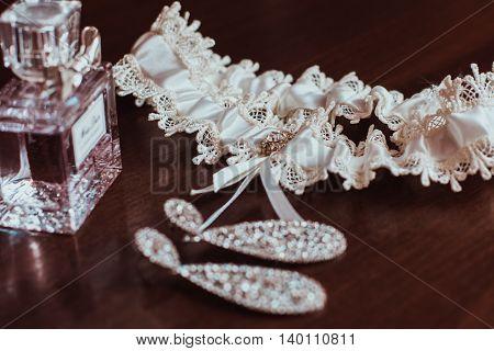 Beautiful Set Of Women's Wedding Accessories. Bride's Morning.