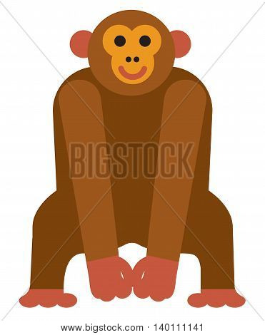 illustration of the icon animal chimpanzee monkey