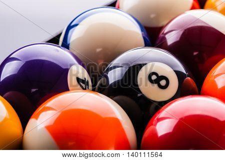 Billiard Balls Closeup
