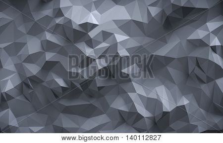 Abstract textured modern grey polygonal wall background