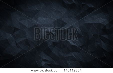Abstract textured modern dark polygonal wall background