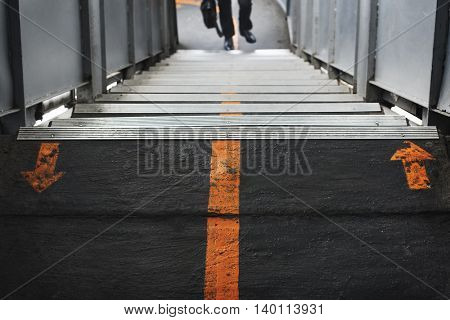 Staircase Station Walking Signs concept
