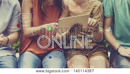Connection Digital Devices Internet Sharing Concept
