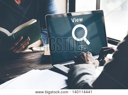 View Search Searching Inspect Vision Concept