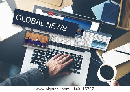 Media Journalism Global Daily News Content Concept