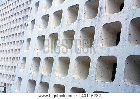 Concrete block design pattern of chamfer square void very elegant from Okinawa Japan