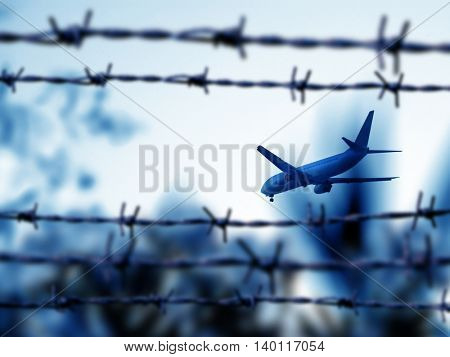 an image of airplane flying