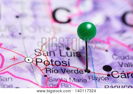 Rio Verde pinned on a map of Mexico