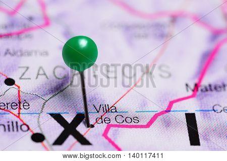 Villa de Cos pinned on a map of Mexico