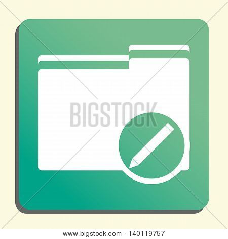 Folder Edit Icon In Vector Format. Premium Quality Folder Edit Symbol. Web Graphic Folder Edit Sign