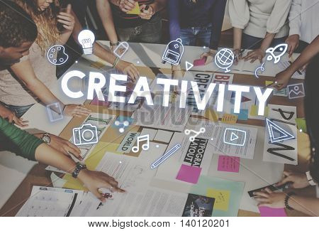 Creativity Design Process Graphics Concept