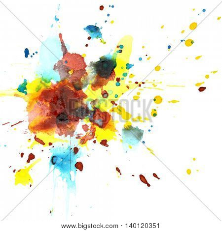 Colorful watercolor splashes - abstract background