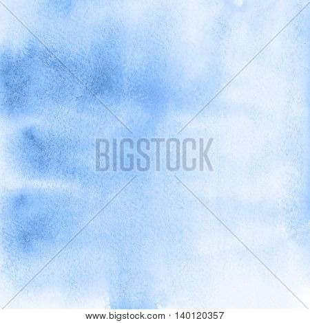 Light blue abstract watercolor background with texture of paper