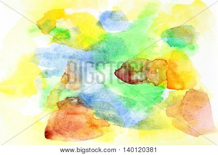 Handmade abstract watercolor background