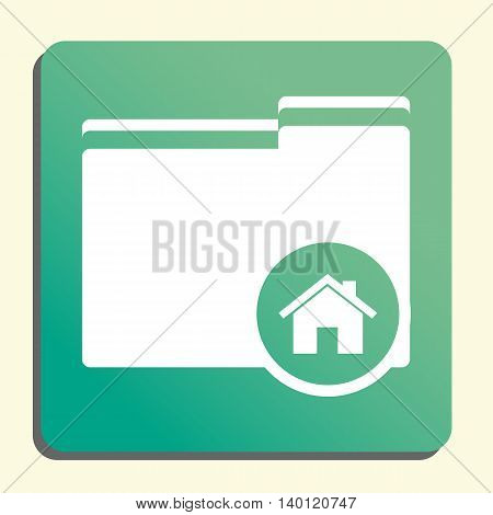 Folder Home Icon In Vector Format. Premium Quality Folder Home Symbol. Web Graphic Folder Home Sign